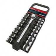 CARPOINT RACHET + SOCKE SET 19 PCS METRIC & 3/8 ''