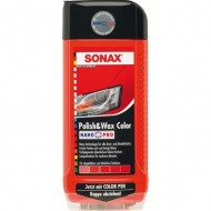SONAX POLISH  & WAX COLOR RED 500 ML