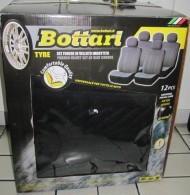 BOTTARI 12 PCS UNIVERSAL SEAT COVER BLACK