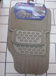 PACKY PODA UNIVERSAL CAR MATS RUBER & CLOTH BEIGE