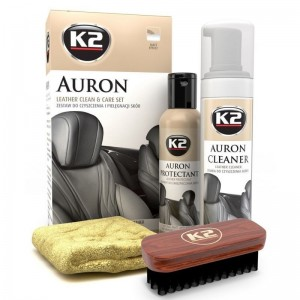 K2 AURON LEATHER CLEANER & CARE SET